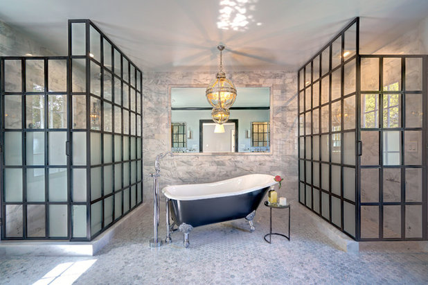 Transitional Bathroom by Current Designed