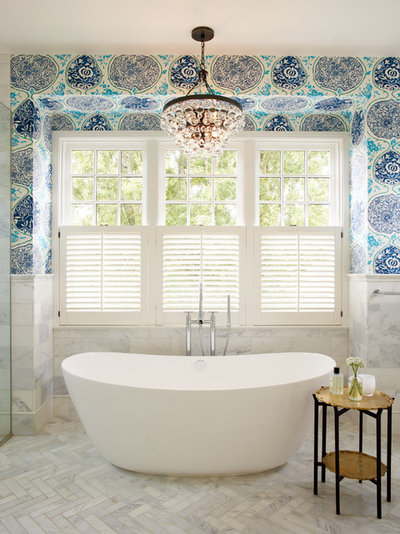 Eclectic Bathroom by Uniplex Construction