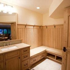Traditional Bathroom by AM Interior Design