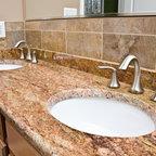 Madura Gold Granite Modern Kitchen Countertops Dc