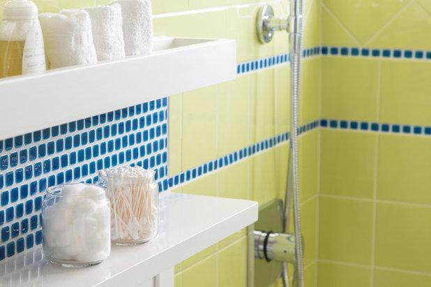 Great Beach Style Bathroom by Model Remodel