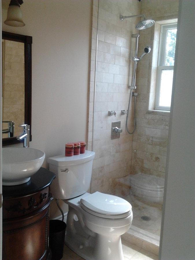 Main floor bath conversion to shower