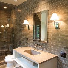 Contemporary Bathroom by SEMERJIAN BUILDERS
