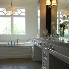 Traditional Bathroom by Aubrey Reisinger Interior Design
