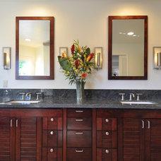Tropical Bathroom by Fujita + Netski Architecture, LLC