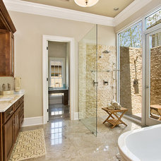 Transitional Bathroom by Maria Barcelona Interiors, LLC