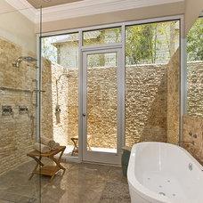 Transitional Bathroom by Maria Barcelona Interiors, LLC