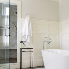 Transitional Bathroom by Rill Architects