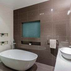 Modern Bathroom by Mal Corboy Design and Cabinets