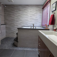 Before & After: From Frilly Master Bathroom to Man Cave