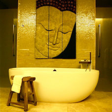 Eclectic Bathroom by ReMix Interiors