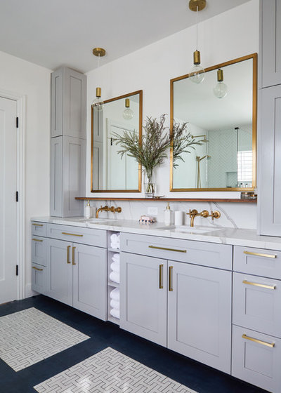 Transitional Bathroom by LA Design Build