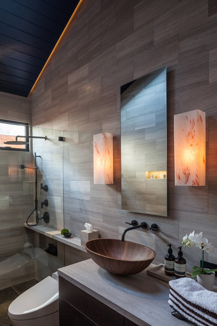 Asian Bathroom by Beach House Design & Development