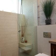 Modern Bathroom by Custom Design & Construction