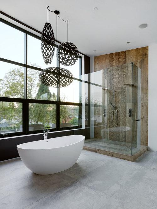 Concrete Bathroom Floors Ideas Pictures Remodel and Decor – Concrete Floor Bathroom