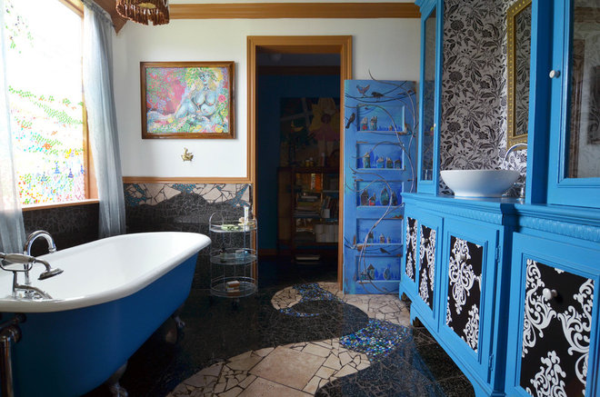 Eclectic Bathroom by Sarah Greenman