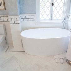Modern Bathroom by Mediterranean Tile and Marble