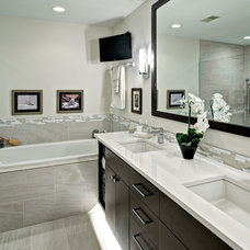 Contemporary Bathroom by Quality Cut Remodelers