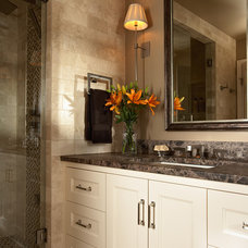 Transitional Bathroom by Casa Verde Design