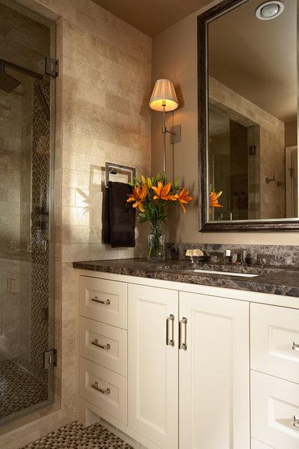 Transitional Bathroom by Casa Verde Design