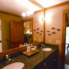 Traditional Bathroom by BLUE OX TIMBER FRAMES