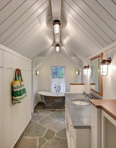 Coastal Bathroom by Colby Construction