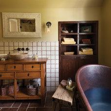 Farmhouse Bathroom by Lendrum Photography LLC