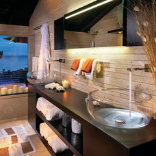 contemporary bathroom by Aria Design Inc