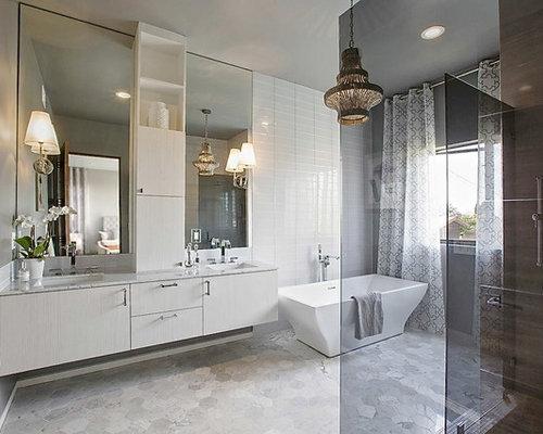 Best Warm Grey Floor Tile Design Ideas & Remodel Pictures   Houzz