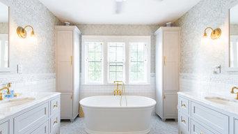 Marble & Brass Bathroom