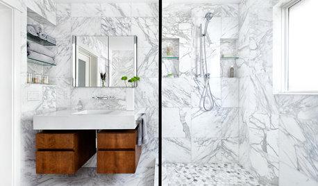 Modern marmor i badrummet – på 9 olika sätt
