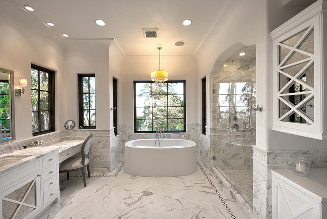 Traditional Bathroom by Carmel Stone Imports