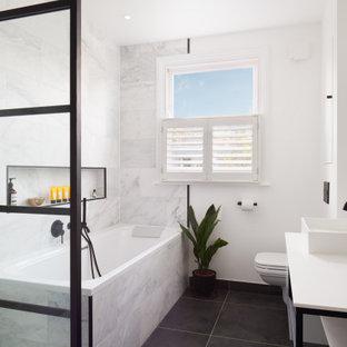 Design ideas for a contemporary bathroom in London.