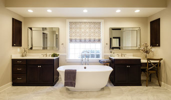 Marble Master Bath Retreat featuring Medallion Cabinetry