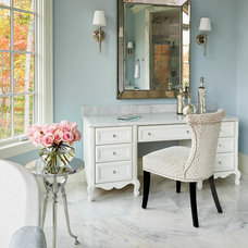 Transitional Bathroom by Driggs Designs