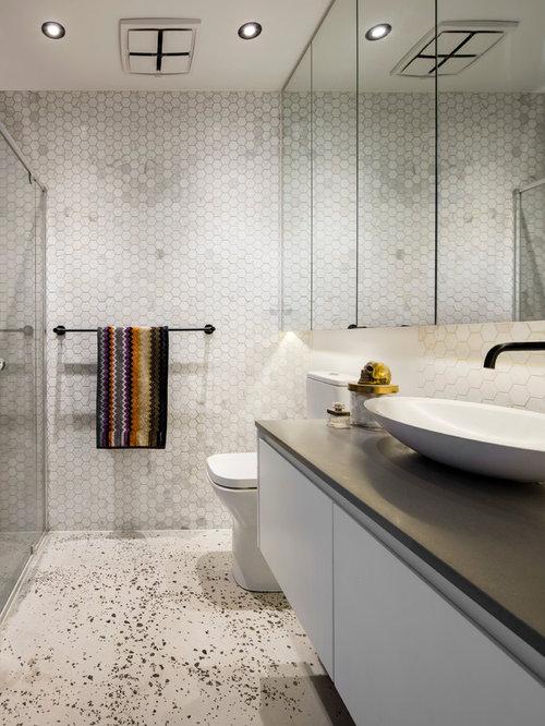 Houzz | Bathroom with Concrete Floors Design Ideas ...