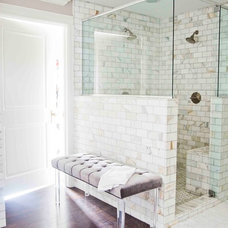 Traditional Bathroom by White + Gold Design