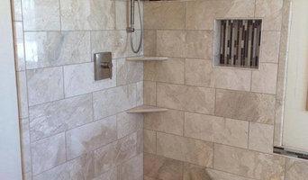 Marble Shower, Brick Pattern with Niche