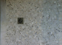 Multiple sized marble dots