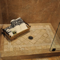 tropical bathroom by All Tile