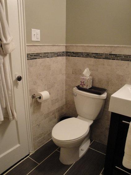 Contemporary Bathroom Marble Subway Tile Bathroom
