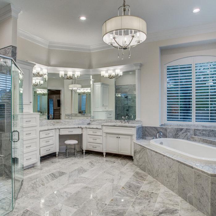 Marbled Master Bath