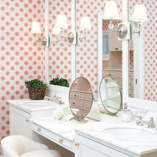 beach style bathroom by Terrat Elms Interior Design