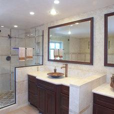 Mediterranean Bathroom by Marcarelli Design Inc.