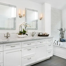 Transitional Bathroom by Mola Builders Inc