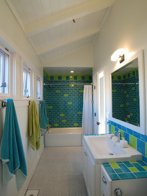Turquoise Subway Tile Home Design Ideas Pictures Remodel And Decor