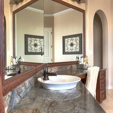 Mediterranean Bathroom by The Granite Guy