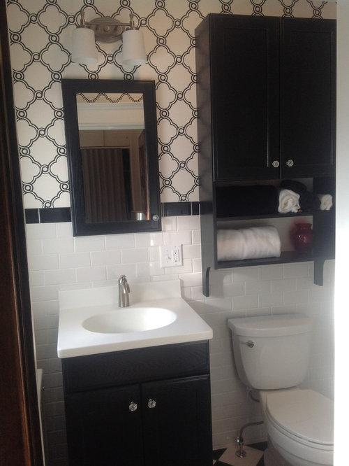 30 best small traditional bathroom ideas photos houzz for Small two piece bathroom ideas