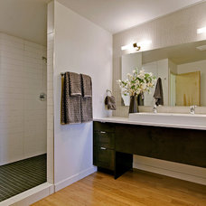 Midcentury Bathroom by Green Canopy Homes