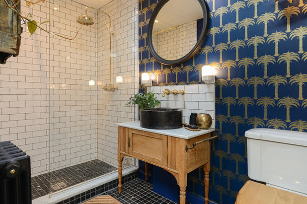 Eclectic Bathroom by White Room Photography